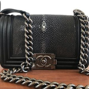 CHANEL Stingrey mini boy bag